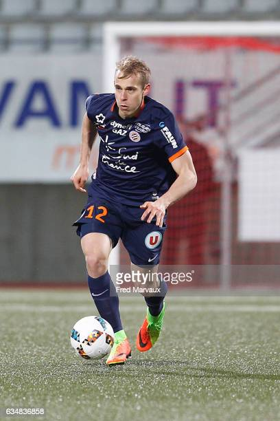 Lukas Pokorny of Montpellier during the Ligue 1 match between As Nancy Lorraine and Montpellier Herault at Stade Marcel Picot on February 11 2017 in...