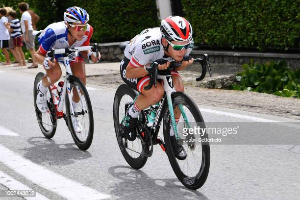 Lukas Postlberger of Austria and Team Bora Hansgrohe / Tobias Ludvigsson of Sweden and Team Groupama FDJ / during the 105th Tour de France 2018,...