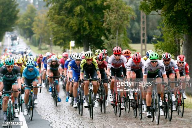 Lukas Postlberger of Austria and Team BoraHansgrohe / Manuele Boaro of Italy and Astana Pro Team / Julien Duval of France and Team AG2R La Mondiale /...