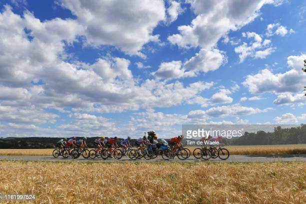 Lukas Pöstlberger of Austria and Team Bora-Hansgrohe / Oliver Naesen of Belgium and Team AG2R La Mondiale / Ivan Garcia of Spain and Team...