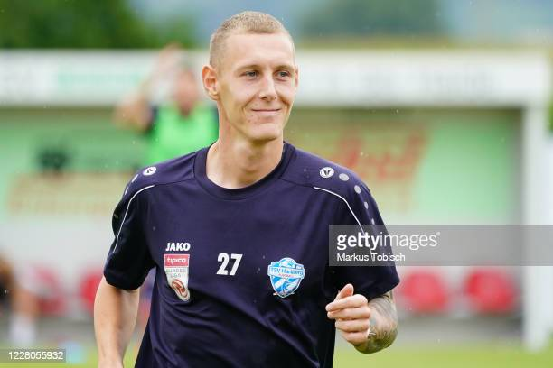 Lukas Ried of Hartberg during the Friendly match between TSV prolactal Hartberg and FC Banik Ostrava at RM-Stadion on August 15, 2020 in St.Johann in...