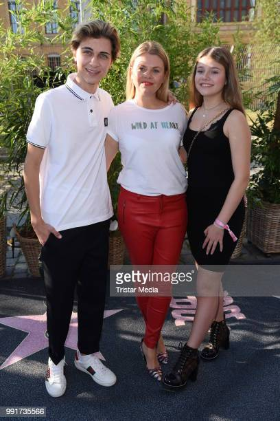 Lukas Rieger Anne Sophie Briest and her daughter Faye Montana attend the Riani show during the Berlin Fashion Week Spring/Summer 2019 at ewerk on...