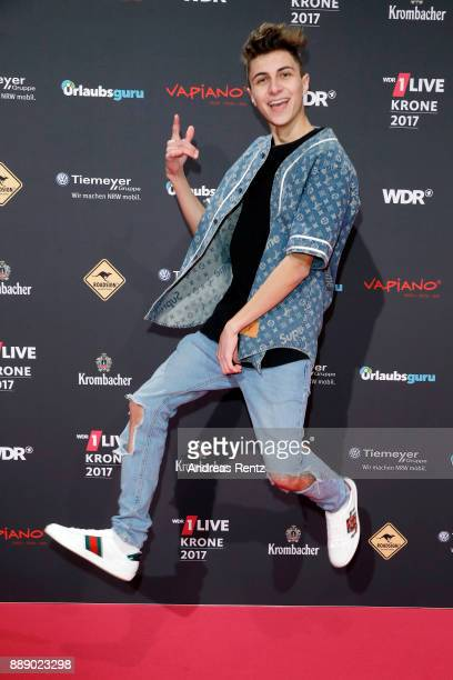 Lukas Rieger attends the 1Live Krone radio award at Jahrhunderthalle on December 07 2017 in Bochum Germany