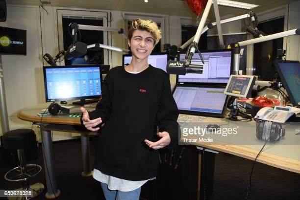 Lukas Rieger hosts 936 JAM FM radio show in Berlin on March 15 2017 in Berlin Germany