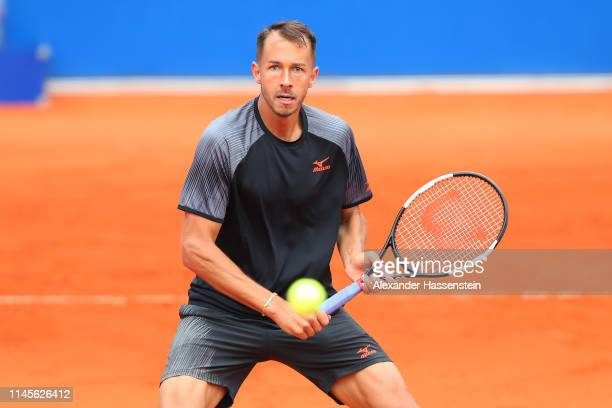 Lukas Rosol of Czech Republic plays a fore hand during his quaterfinal qualification match against Yannick Maden of Germany on day 2 of the BMW Open...