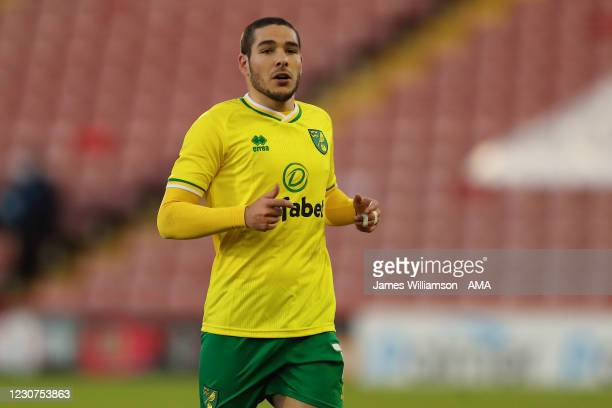 Lukas Rupp of Norwich City during The Emirates FA Cup Fourth Round match between Barnsley and Norwich City at Oakwell Stadium on January 23, 2021 in...
