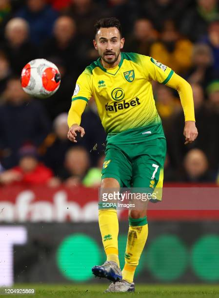 Lukas Rupp of Norwich City in action during the Premier League match between Norwich City and Leicester City at Carrow Road Final Score Norwich City...