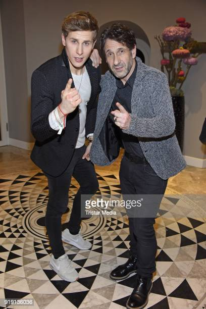 Lukas Sauer and Falk Willy Wild attend the Green Carpet Lounge hosted by the Ustinov Foundation on February 16 2018 in Berlin Germany