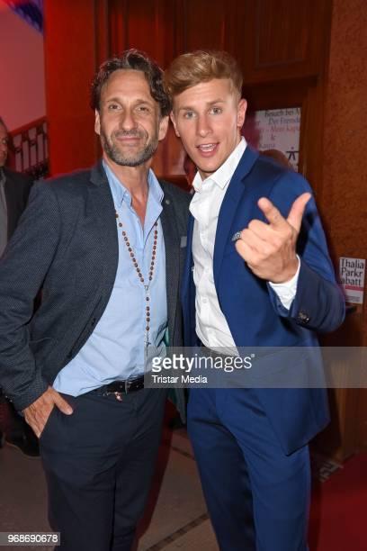 Lukas Sauer and Falk Willy Wild attend the Studio Hamburg Nachwuchspreis on June 6, 2018 in Hamburg, Germany.