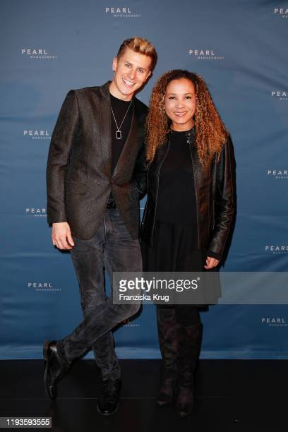 Lukas Sauer and Joyce Darkoh during the PEARL Model Management Fashion Aperitif at The Reed on January 13 2020 in Berlin Germany