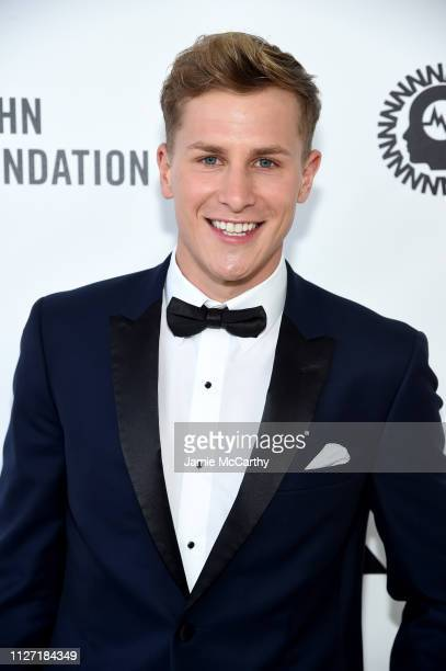 Lukas Sauer attends the 27th annual Elton John AIDS Foundation Academy Awards Viewing Party sponsored by IMDb and Neuro Drinks celebrating EJAF and...