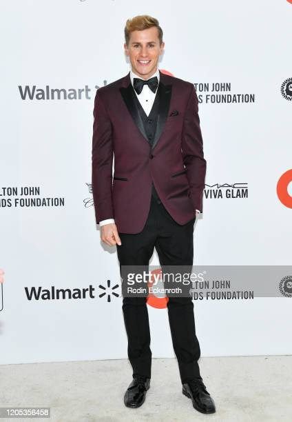 Lukas Sauer attends the 28th Annual Elton John AIDS Foundation Academy Awards Viewing Party Sponsored By IMDb And Neuro Drinks on February 09, 2020...