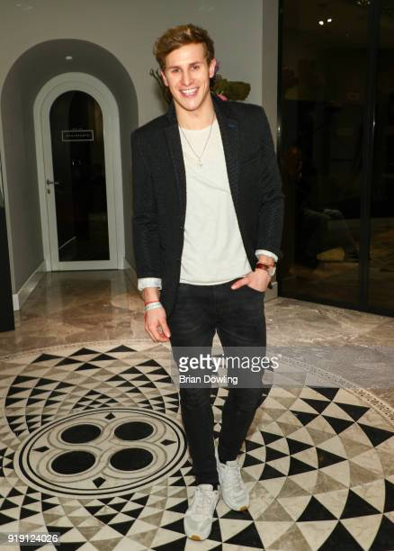Lukas Sauer attends the Green Carpet Lounge hosted by the Ustinov Foundation on February 16, 2018 in Berlin, Germany.