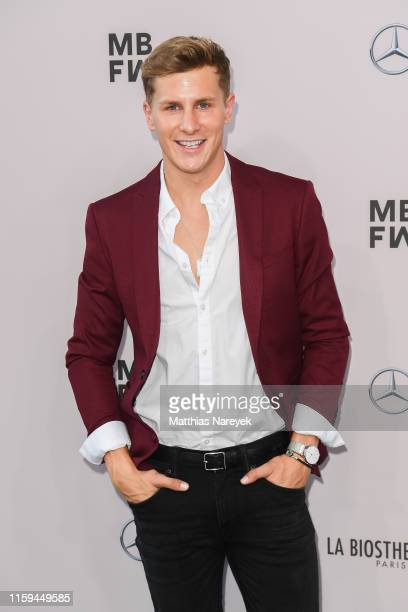 Lukas Sauer attends the Guido Maria Kretschmer show during the Berlin Fashion Week Spring/Summer 2020 at ewerk on July 01 2019 in Berlin Germany