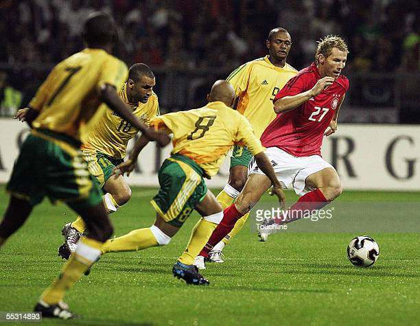 Lukas Sinkiewicz og Germany osurges forward during the International friendly match played between South Africa and Germany at the Westfallen Stadium...