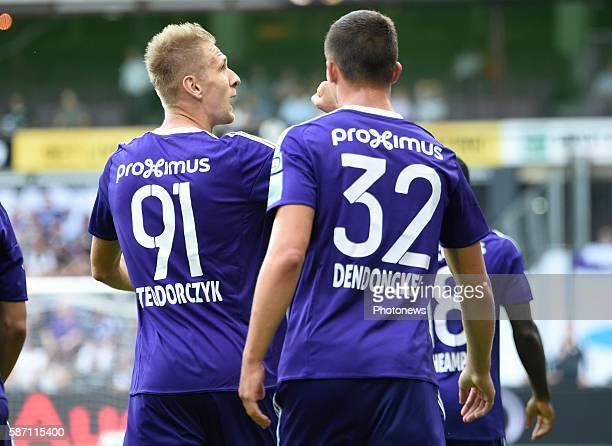 Lukas Teodorczyk forward of RSC Anderlecht celebrates scoring a goal pictured during Jupiler Pro League second day competition match between RSC...