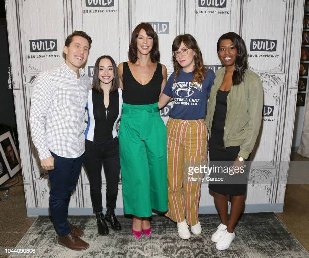 Lukas Thimm Ali Kolbert Pollyanna McIntosh Shannon Coffey and Brittany JonesCooper after Build Brunch at Build Studio on October 1 2018 in New York...