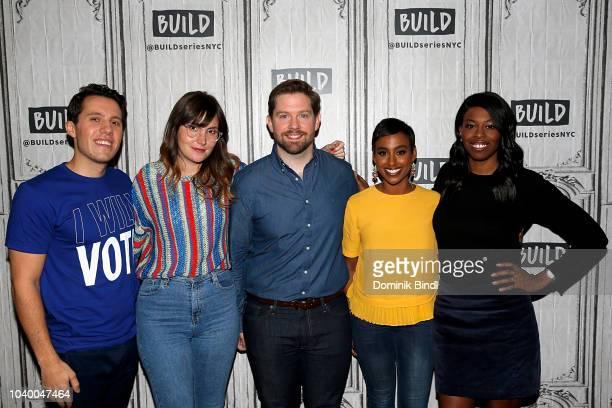 Lukas Thimm Shannon Coffey Rory O'Malley Delina Medhin and Britanny JonesCooper at Build Studio on September 25 2018 in New York City