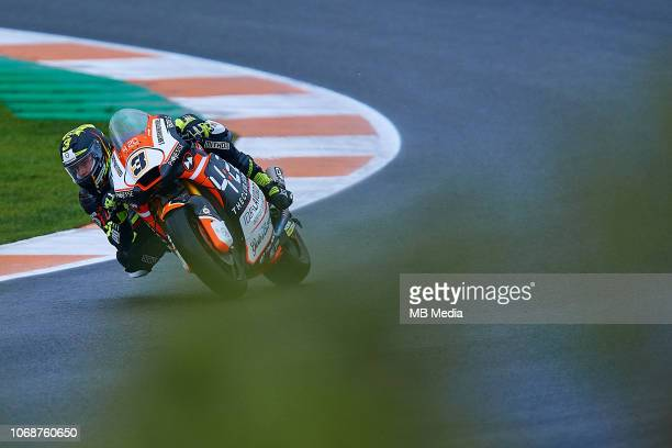 Lukas Tulovic of Germany and Forward Racing Team rides during the MotoGP of Valencia Free Practice at Ricardo Tormo Circuit on November 16 2018 in...