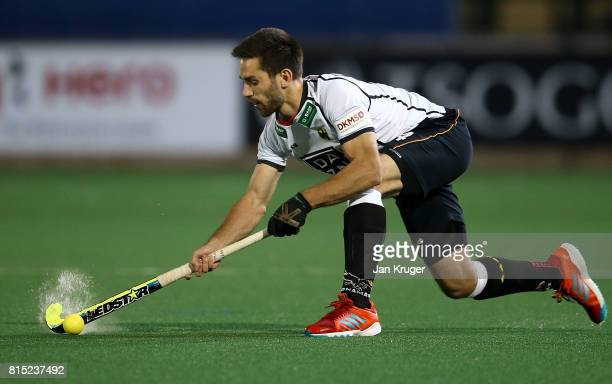 Lukas Windfeder of Germany during day 4 of the FIH Hockey World League Men's Semi Finals Pool B match between Belgium and Germany at Wits University...