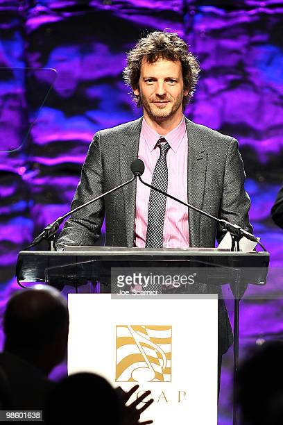 Lukasz 'Dr Luke' Gottwald receives his ASCAP Award at the 27th Annual ASCAP Pop Music Awards Show at Renaissance Hollywood Hotel on April 21 2010 in...