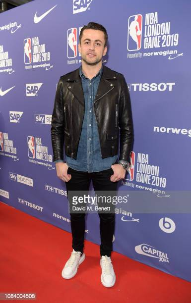 Lukasz Fabianski attends the NBA London Game 2019 between the Washington Wizards and New York Knicks at The O2 Arena on January 17 2019 in London...