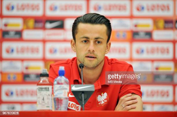 Lukasz Fabianski of Poland during press conference at Arlamow Hotel during the second phase of preparation for the 2018 FIFA World Cup Russia on June...