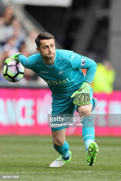 Lukasz Fabianski of Swansea City during the Premier League match between Swansea City and Middlesbrough at Liberty Stadium on April 2 2017 in Swansea...