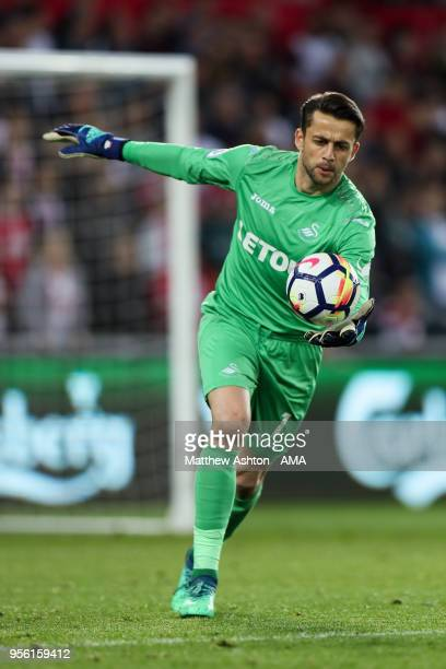 Lukasz Fabianski of Swansea City during the Premier League match between Swansea City and Southampton at Liberty Stadium on May 8 2018 in Swansea...
