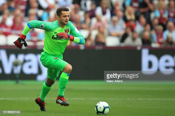 Lukasz Fabianski of West Ham United during the Premier League match between West Ham United and AFC Bournemouth at London Stadium on August 18 2018...