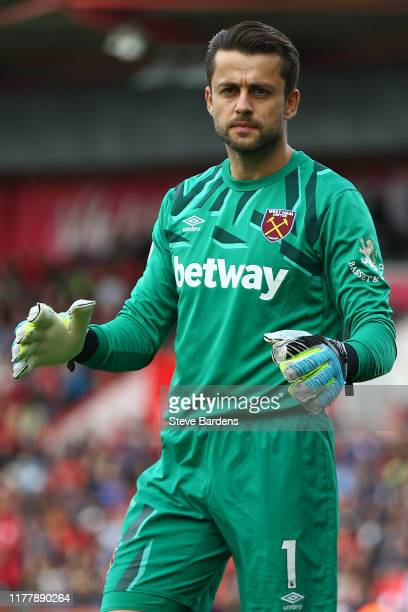 Lukasz Fabianski of West Ham United during the Premier League match between AFC Bournemouth and West Ham United at Vitality Stadium on September 28,...