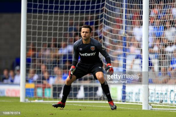 Lukasz Fabianski of West Ham United during the preseason friendly match between Ipswich Town and West Ham United at Portman Road on July 28 2018 in...