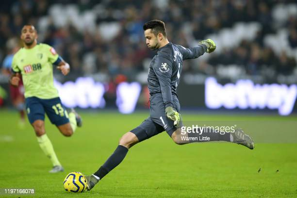 Lukasz Fabianski of West Ham United in action during the Premier League match between West Ham United and AFC Bournemouth at London Stadium on...