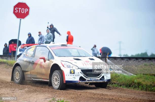 Lukasz Pieniazek POL Przemyslaw Mazur POL TRT PEUGEOT WORLD RALLY TEAM during the WRC Orlen 74 Rally Poland on June 30 2017 in Mikolajki Poland