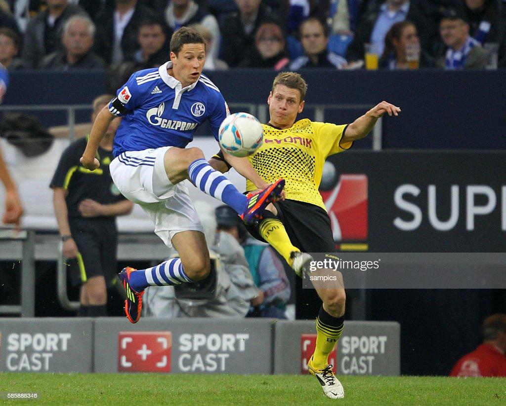 Lukasz PISCZEK Borussia Dortmund gegen Julian Draxler Fussball Supercup 2011 Schalke 04 gegen Borussia Dortmund Bundesliga Saison 2011 / 2012