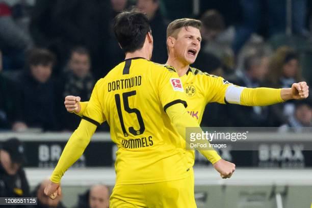 Lukasz Piszczek of Borussia Dortmund and Mats Hummels of Borussia Dortmund the player's of Borussia Dortmund celebrate after winning the Bundesliga...