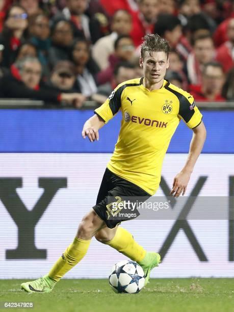Lukasz Piszczek of Borussia Dortmundduring the UEFA Champions League round of 16 match between SL Benfica and Borussia Dortmund on February 14 2017...