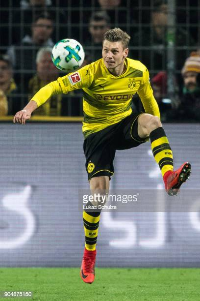 Lukasz Piszczek of Dortmund in action during the Bundesliga match between Borussia Dortmund and VfL Wolfsburg at Signal Iduna Park on January 14,...