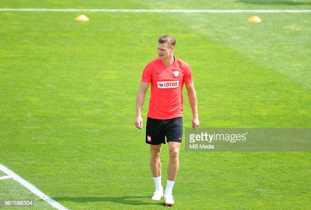 Lukasz Piszczek of Poland during a training session of the Polish national team at Arlamow Hotel during the second phase of preparation for the 2018...