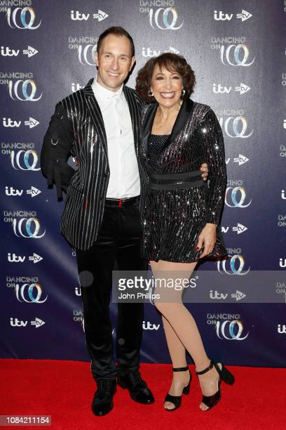 Lukasz Rozycki and Didi Conn during a photocall for the new series of Dancing On Ice at the Natural History Museum Ice Rink on December 18 2018 in...
