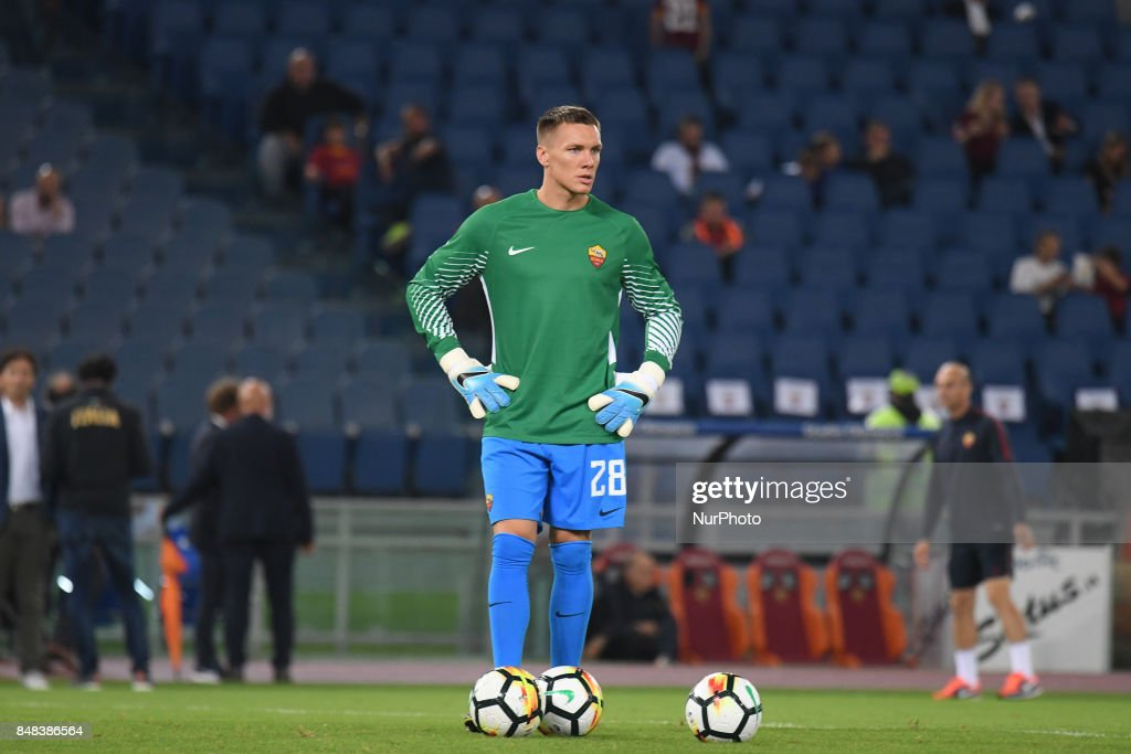 Lukasz Skorupski during the Italian Serie A football match between A.S. Roma and F.C. Hellas Verona at the Olympic Stadium in Rome, on september 16, 2017.