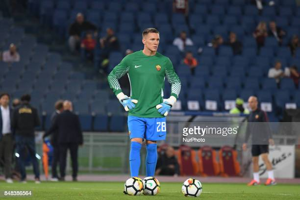 Lukasz Skorupski during the Italian Serie A football match between AS Roma and FC Hellas Verona at the Olympic Stadium in Rome on september 16 2017