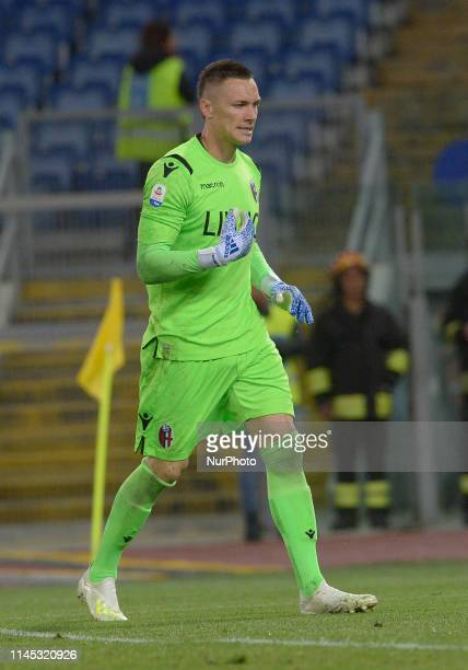 Lukasz Skorupski during the Italian Serie A football match between SS Lazio and Bologna at the Olympic Stadium in Rome on may 20 2019