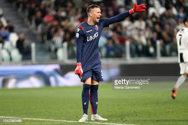 Lukasz Skorupski of Bologna Fc in action during the Serie A football match between Juventus Fc and Bologna Fc Juventus won the match 20