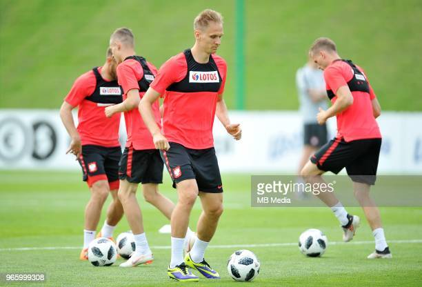 Lukasz Teodorczyk during a training session of the Polish national team at Arlamow Hotel during the second phase of preparation for the 2018 FIFA...