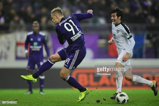 Lukasz Teodorczyk forward of RSC Anderlecht missing an opportunity during the Jupiler Pro League match between RSC Anderlecht and KAS Eupen at the...