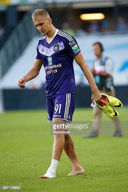 Lukasz Teodorzcyk forward of RSC Anderlecht pictured during Jupiler Pro League match between RSC Anderlecht and KAA Gent on August 28, 2016 in...