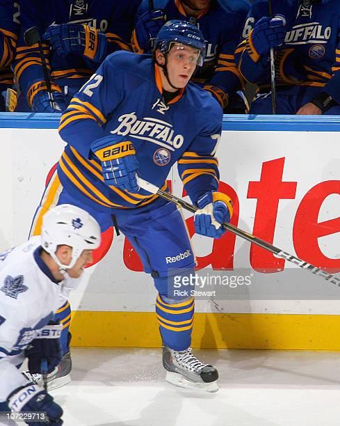 Luke Adam of the Buffalo Sabres skates against the Toronto Maple Leafs at HSBC Arena on November 26 2010 in Buffalo New York Buffalo won 31