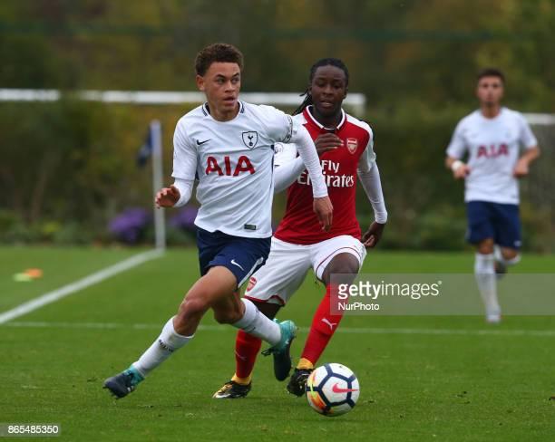 Luke Amos of Tottenham Hotspur during Premier League 2 Div 1 match between Tottenham Hotspur Under 23s against Arsenal Under 23s at Tottenham Hotspur...