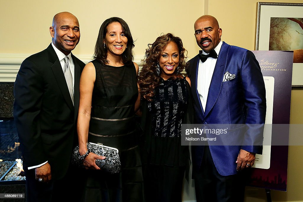 Luke and Kimberly Griffin of State Farm and Marjorie and Steve Harvey attend the 2014 Steve & Marjorie Harvey Foundation Gala presented by Coca-Cola VIP Reception at the Hilton Chicago on May 3, 2014 in Chicago, Illinois.